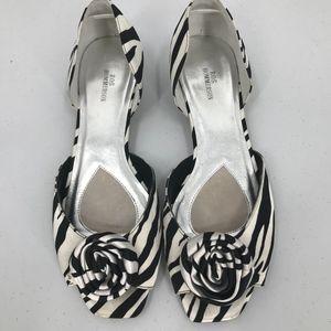 Ros Hommerson Zebra Print w/Flower Shoes Size 11W